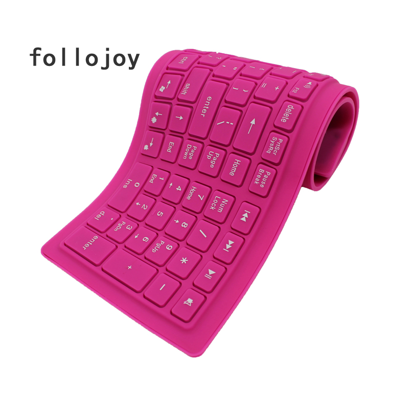 107 key wireless soft keyboard supports windows Android Apple Bluetooth-in Replacement Keyboards from Computer & Office