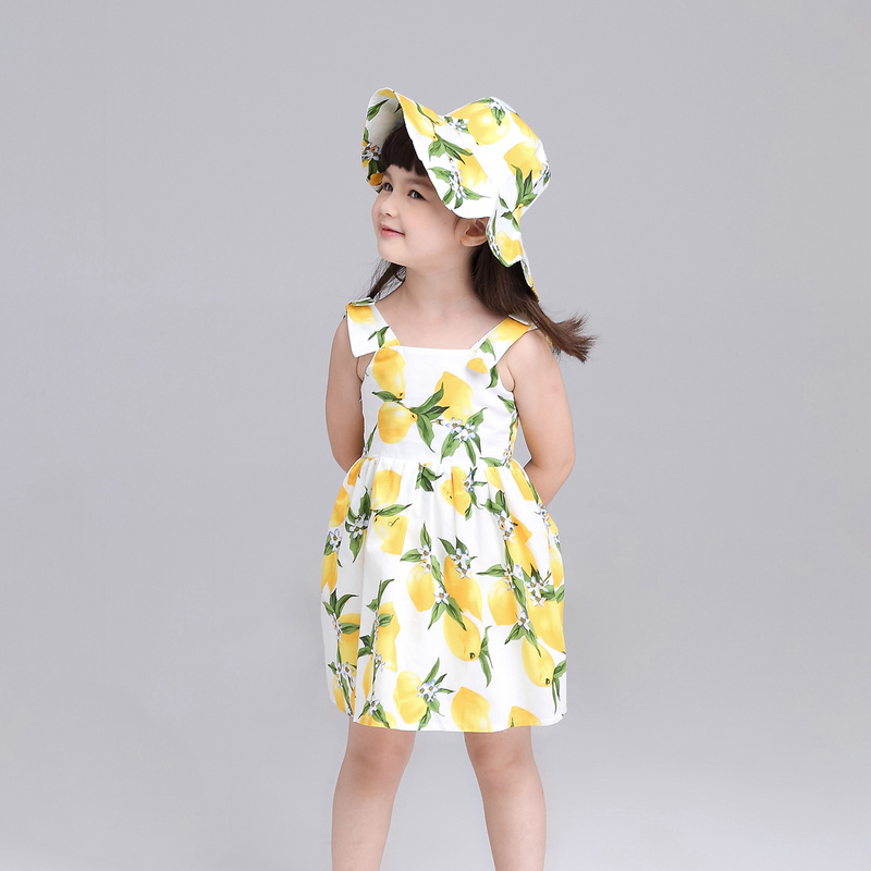 Подробнее о Girls Summer Dress Kids Clothes 2016 Italy Brand Children Dress Princess Lemon Print Pattern Baby Girls Dresses for Party baby girl dress 2016 brand girls summer dress children clothing lemon print kids dresses for girls clothes robe princesse fille