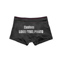 d085d7c64 Custom Men s Boxers Underpants Cotton Underwear Print LOGO TEXT PHOTO(China)