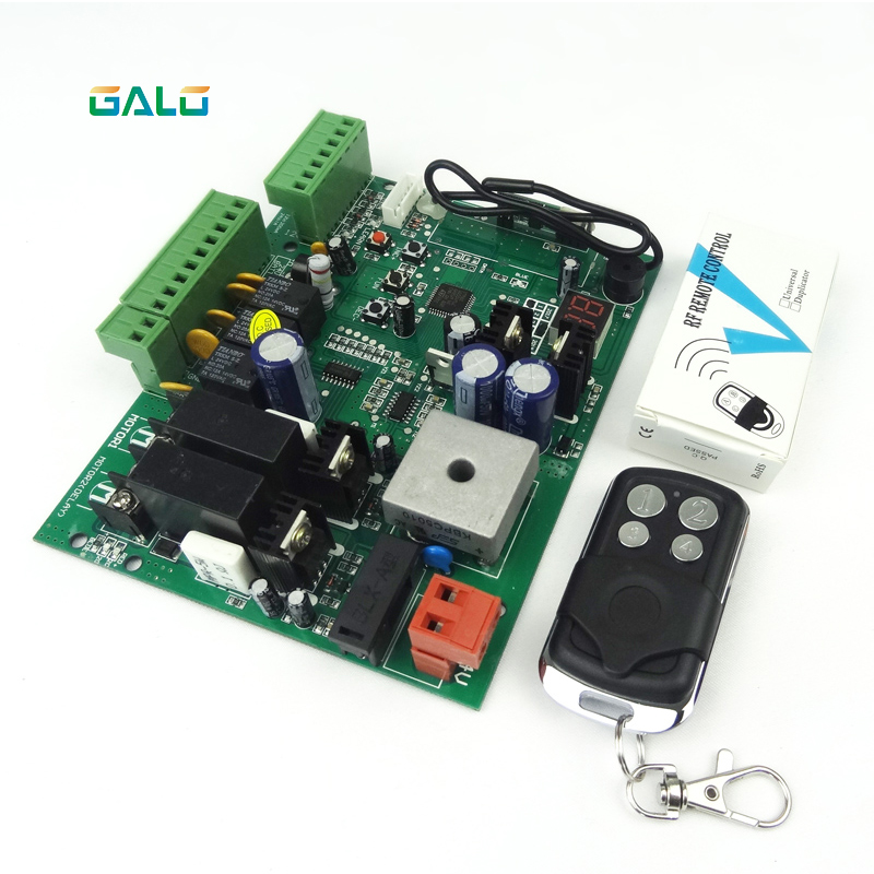galo DC12V Swing Gate Control Board connect back up battery or solar system with remote control amount Optional-in Access Control Kits from Security & Protection