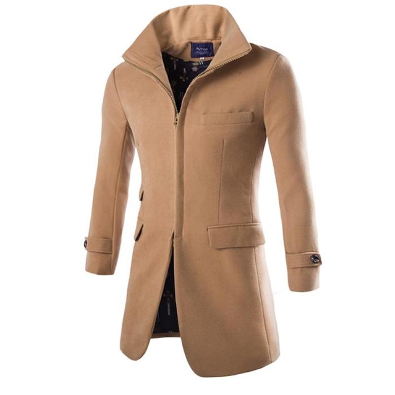men long peacoat pea a winter jacket mens coat male camel. Black Bedroom Furniture Sets. Home Design Ideas
