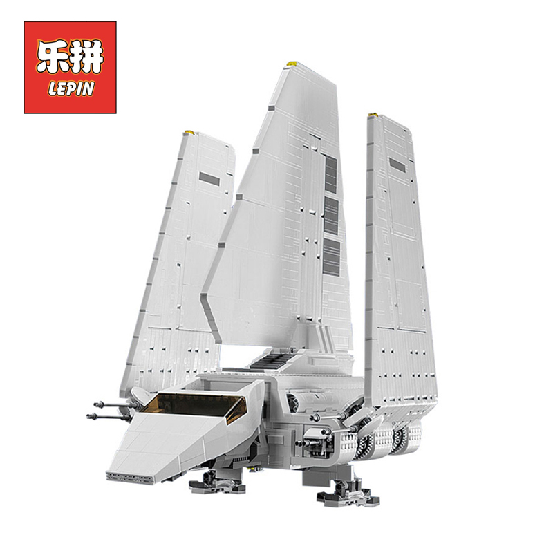 Lepin 05034 Stars Series War The Imperial Shuttle Building Blocks Bricks DIY Model Educational legoing Classical Toys 10212 Gift lepin 05034 star series war the shuttle building assembled blocks bricks diy educational classical toys compatible with 10212