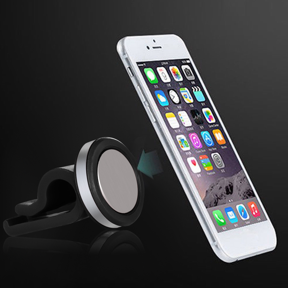 Car Phone Holder Magnetic Air Vent Mount Mobile Smartphone Stand Magnet Support Cell Cellphone Telephone Desk in Car GPS smartphone