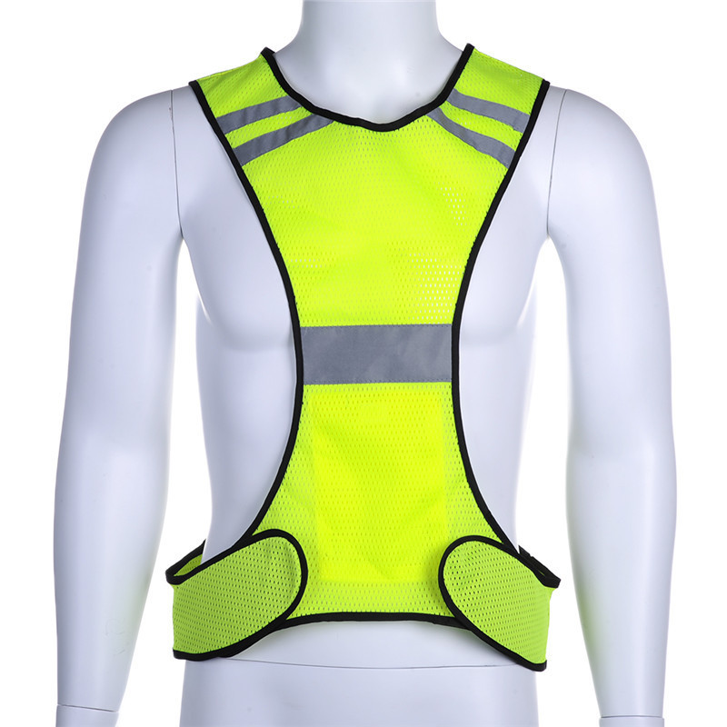 Night Fluorescent High Visibility Reflective Safety Vest Elastic Strap Night Running Riding Equipment ...