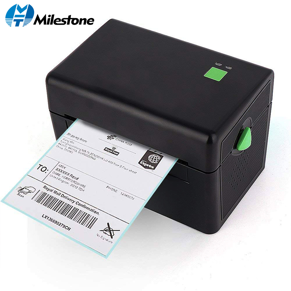 Milestone Thermal Label Printer Commercial Grade Direct Thermal High Speed Bar Code Printer MHT DT108B-in Printers from Computer & Office    1