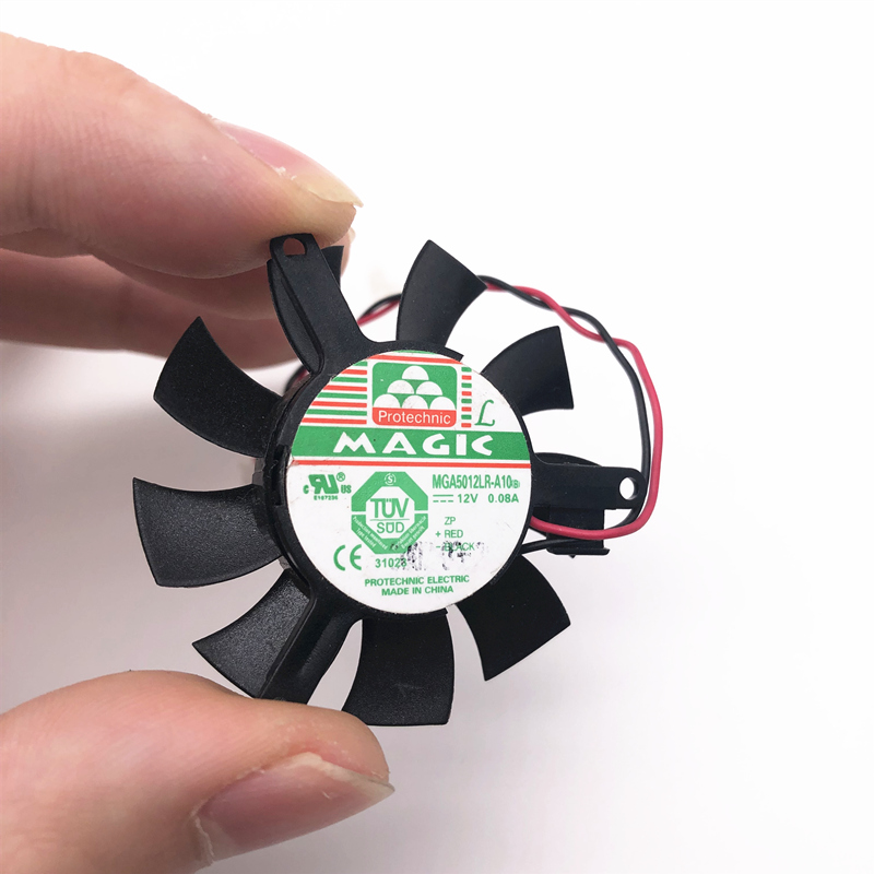 MDA5012LR-A10 MGT5012XR-W10 High Quality Ultra Quiet 5010 Graphics Card Fan Blade 45MM Diameter 39mm Hole Pitch 12V 0.1A   2pin