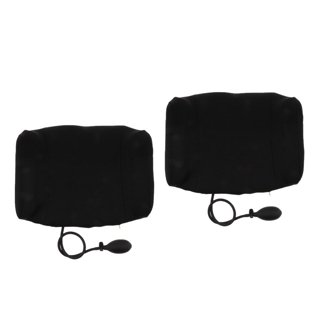 2 Pcs Travel Inflatable Sleeping Lumbar Pillows Waist Support Brace Cushion2 Pcs Travel Inflatable Sleeping Lumbar Pillows Waist Support Brace Cushion