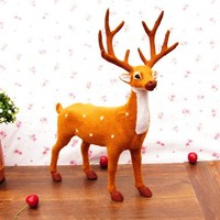 28x36cm Large Reindeer Sika Deer Toy Polyethylene Furs Resin Handicraft Decoration Baby Toy Christmas Gift A586