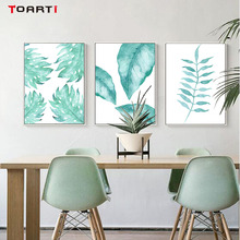 Nordic Style Natural Plant Tropical Leaf Wall Art Canvas Painting Poster And Print Pictures For Living Room Home Decoration