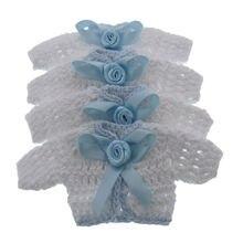 12 шт миниатюрный вязаный крючком свитер Цветочная лента детский