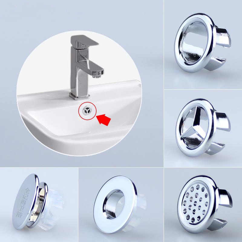 Universal ceramic sink basin overflow cover Ring Round 22mm Insert Hole Cover Decor Cap for kitchen bathroom Replacement fitting