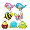 1 шт. алюминиевых мини улитка птица воздушные шары пчелы butterfly божья коровка лягушка первый день рождения шар украшения, игрушки, 38*27 см