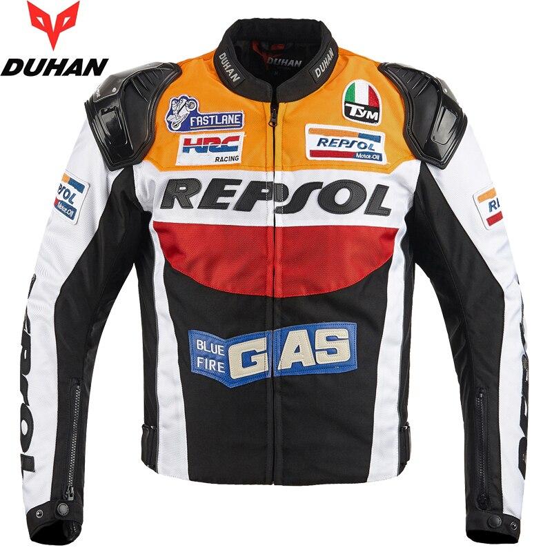 DUHAN Классическая мотоциклетная куртка, светоотражающая, носимая одежда для верховой езды, регулируемая, профессиональная, задняя, налокотн