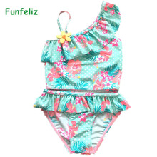 9c81f254443f9 Funfeliz Blue Swimsuit for Girls 2-10 Years Two Pieces Bathing Suits  Swimwear
