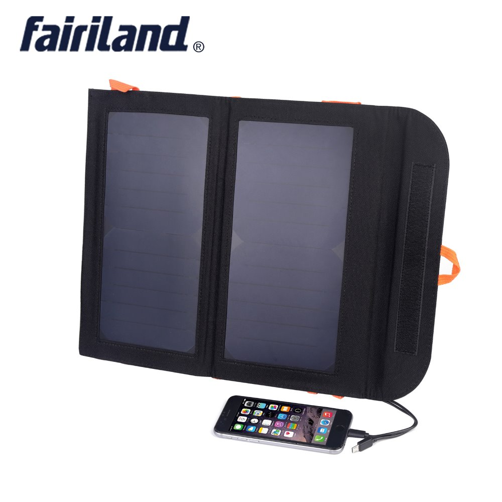 13W Solar Charger with 8000mAH battery bank power waterproof foldable portable solar panels for camping hiking outdoor equipment
