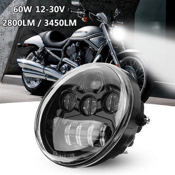 Motor Lights 60W Motorcycle LED Oval Headlight Daymaker For Harley Davidson VRSC V-rod 02-17 harley davidson headlight price