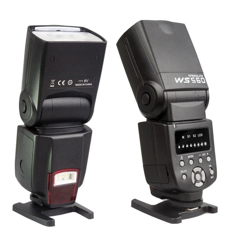 NOUVEAU WANSEN WS-560I Flash Speedlite pour Nikon D3100 D5100 D7000 D7100 Canon 450D 500D 550D 600D 650D 60D 70D comme Yongnuo 560