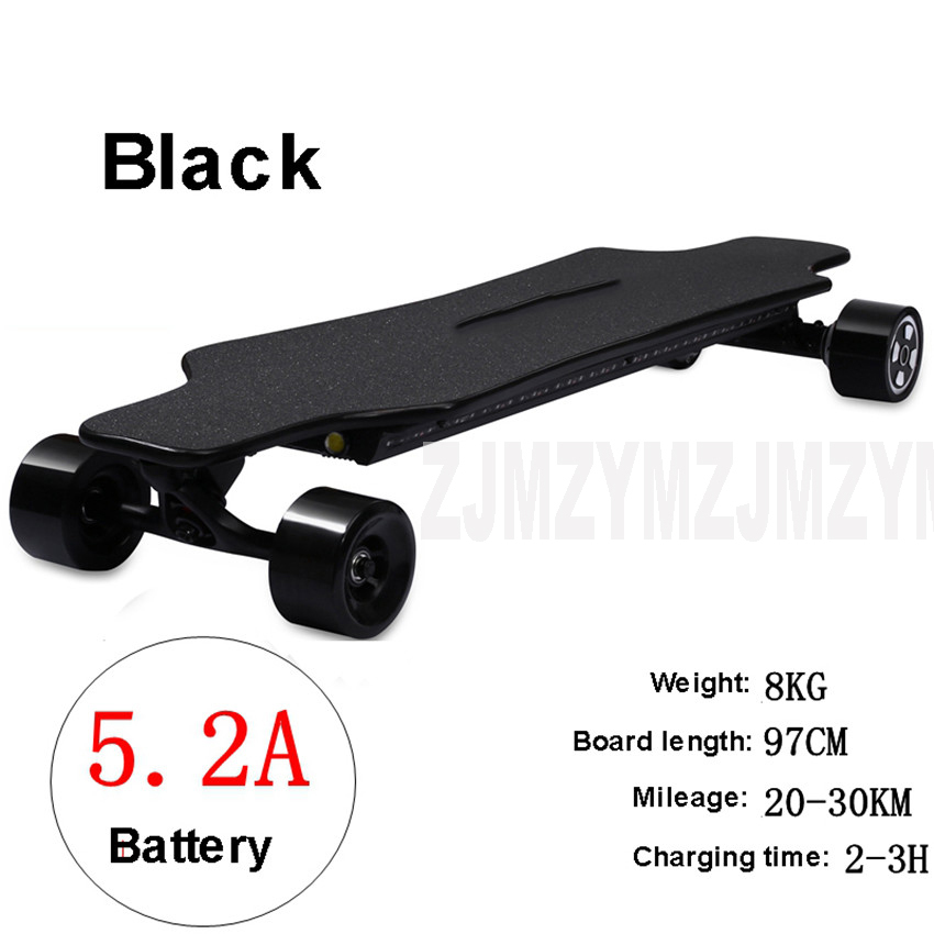 Remote Control Skateboard >> Us 475 64 8 Off 4 Wheels Electric Scooter Remote Control Skateboard Street Board 5 2a 7 8a 350w 2 Dual Drive Maple Wood Skate Scooter For Adult In