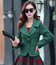 Nice New women's Autumn And Winter Woolen Coat Female Short Paragraph Korean Slim Woolen Coat Woolen Suit Jacket CP1122