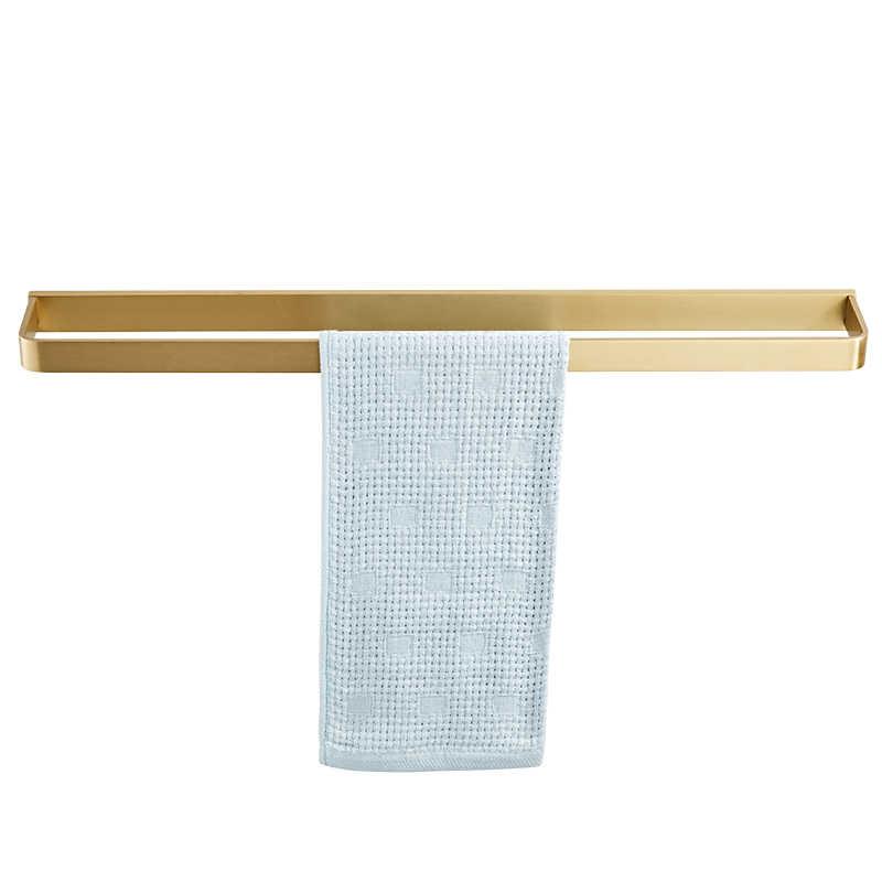 Iskandinav Japon pirinç havlu askısı banyo Pirinç finish havlu bar banyo rafı otel basit banyo kolye