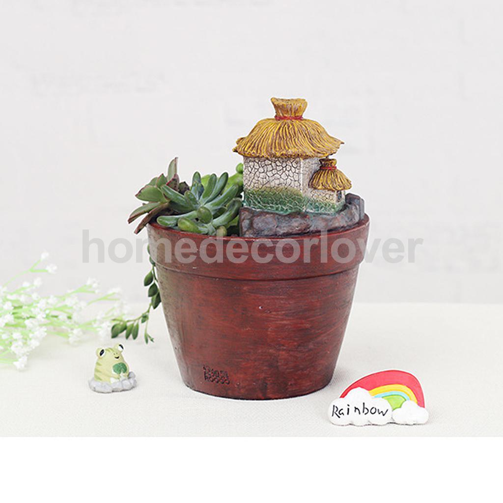 Resin Succulent Plant Planter Flower Pot Home Garden Craft Decor Frog Design