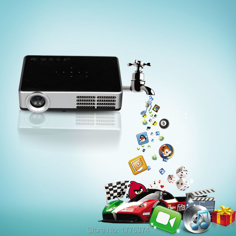 Poner Saund mini Proyector lcd Digital wireless home theater vídeo Android 4.4 D