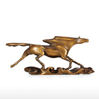 Tooarts современный Скульптура Surf гнать дикий скачущей лошади Mantel подарки корабля и декор три Цвета украшения дома