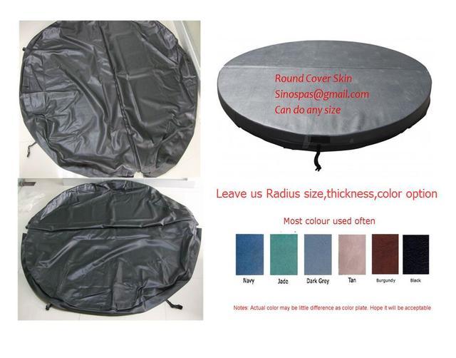 Couvercle de baignoire chaude ronde en cuir | Diamètre 2300mm 10cm épaisseur peut faire toute autre taille