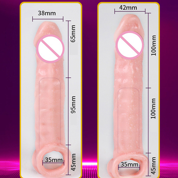 2 Size Huge Soft Penis  Sleeve 4