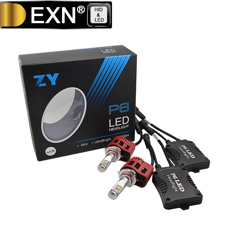 HB3 LED Phare Ampoules Tout-en-Un Kit de Conversion-9005-4500Lm 45 W 6000 K Blanc Froid 5000 K 4000 K 3000 K LED Ampoule de Phare HB3