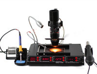Infrared Bga Rework Station YIHUA 1000B 3 in 1 SMD Hot Air Gun+75W Soldering Irons+540W Preheating Station