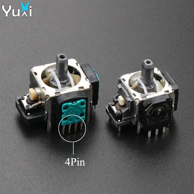 YuXi 2 قطعة/الوحدة استبدال 3pin 4pin عصا التحكم ثلاثية الأبعاد التناظرية قبضة عصا لسوني PS3 المراقب المالي