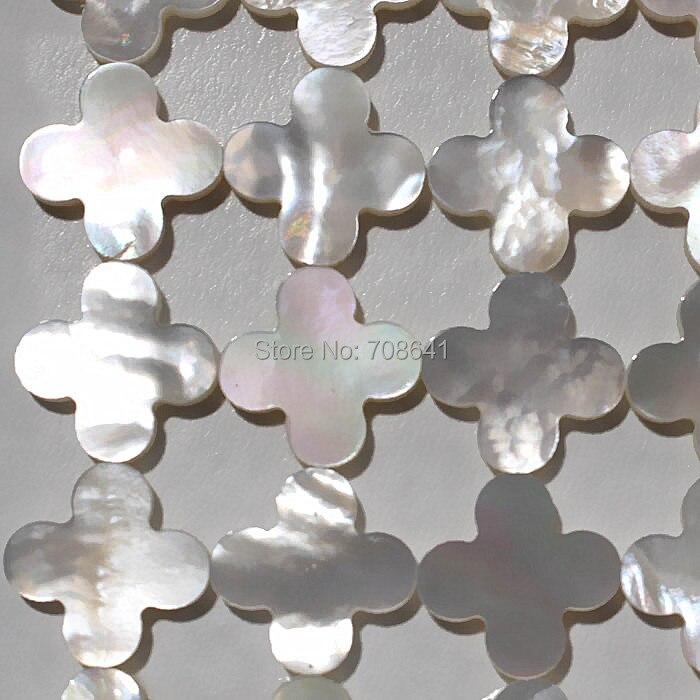 Nouveau plat quatre feuilles trèfle vadrouille coquille Cabochons pierre plat Cabochon cabines bijoux en gros-in Perles from Bijoux et Accessoires    1
