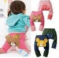 2017 del Otoño del Resorte niños y niñas de algodón de Dibujos Animados pantalones Grandes PP Pantalones niños Legging