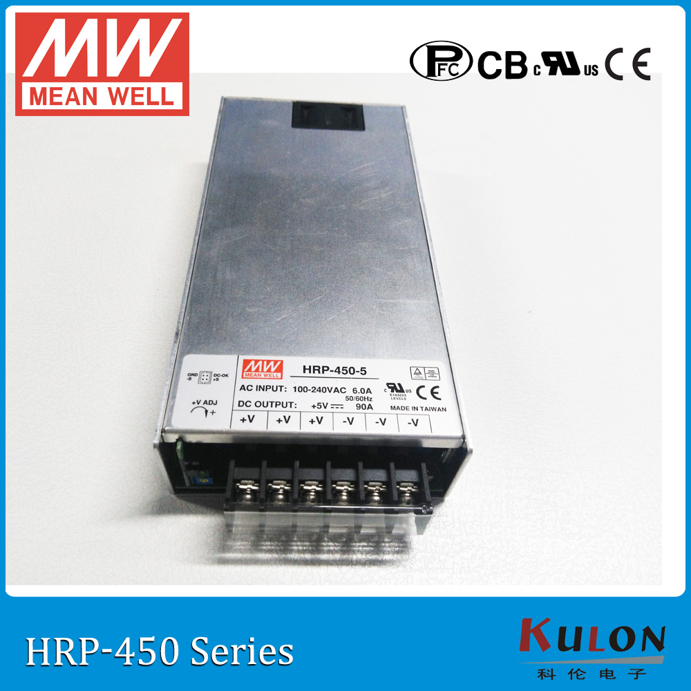 все цены на Original MEAN WELL HRP-450-5 single output 450W 90A 5V meanwell Power Supply HRP-450 with PFC function онлайн