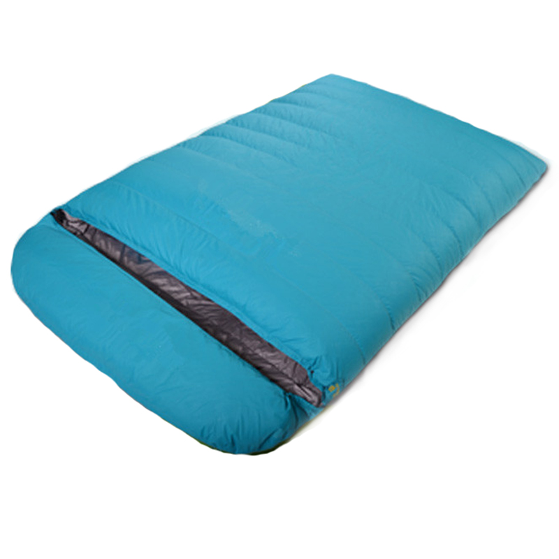 Orignal LEILINUO envelope type winter adult duck down double sleeping bag (200+20)*130cm Outdoor camping lazy bag ,EB27 спальный мешок woodland envelope 200