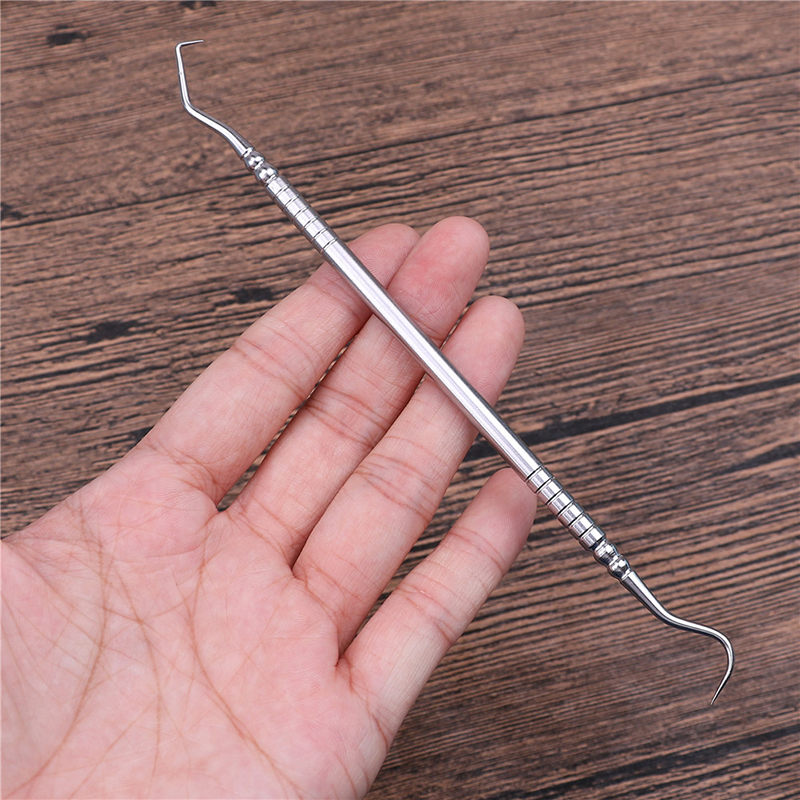 1PCS Stainless Steel Double Ends Dentist Teeth Clean Hygiene Explorer Probe Hook Pick Dental Tool Products