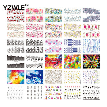 YZWLE Mix Styles Fashion Water Transfer Decals DIY Nail Art Decorations Stickers Tips For Nails
