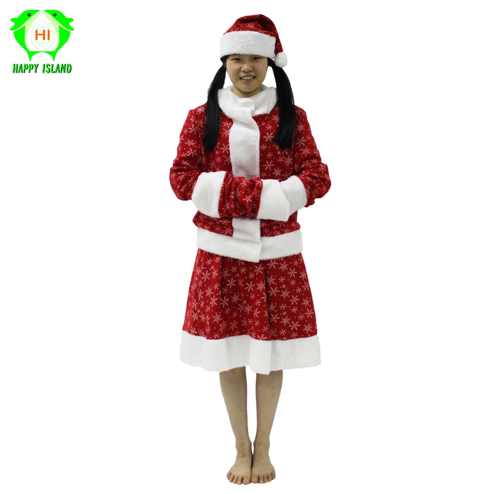 New Style Women Santa Claus Christmas Costume Adult Christmas Red Cosplay Dress Xmas Costume For Lady Girls