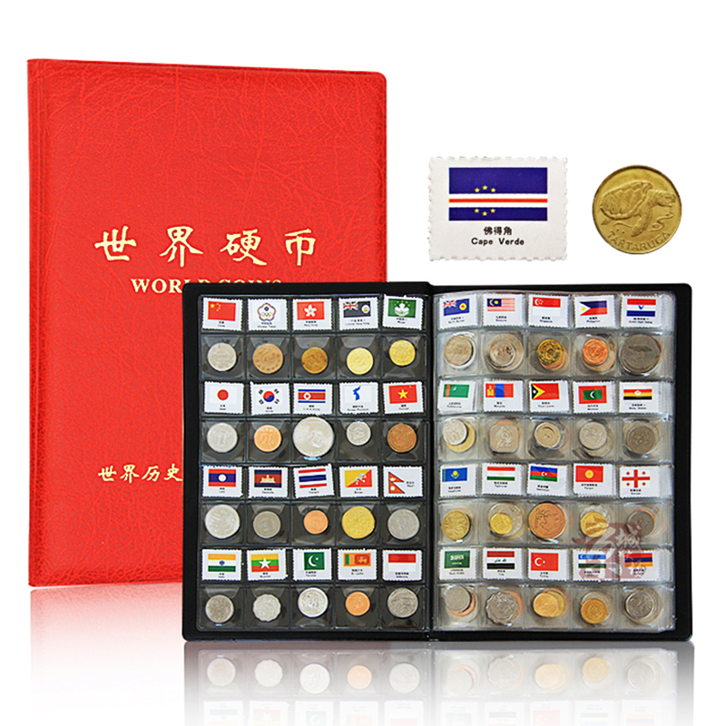 180 coins from 150 160 Countries Album Original Real mint Coin with Leather album world Country