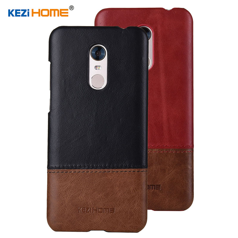 Case for Xiaomi Redmi 5 Plus KEZiHOME Luxury Hit Color Genuine Leather Hard Back Cover capa For Redmi 5 Plus 5.99'' Phone cases