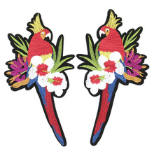 2017 factory direct  selling A pair of parrots patch for clothing can iron on the best quality wedding dress high-end