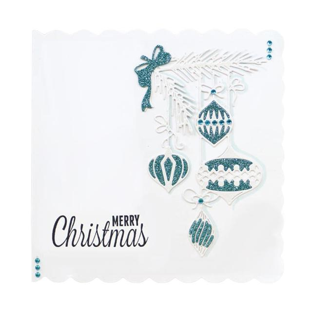 Christmas Ball Edge Cutting Dies Stencils for Card Making Decorative Embossing Suit Paper Cards Stamp DIY Scrapbooking Album