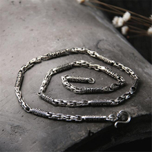 925 Silver Dragon Bone Chain Necklace Sterling 5mm Strand Buddhism Six Words Charms