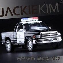Tinggi Simulasi Indah Koleksi Mainan: Styling Mobil KiNSMART Dodge RAM1500 CCar Polisi Model 1:44 Paduan Model Mobil Hadiah Terbaik