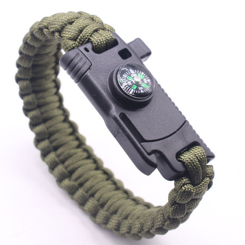 Braided Bracelet Men Multi-function Paracord Survival Bracelet Outdoor Camping Rescue Emergency Rope Bracelets For Women Islamabad