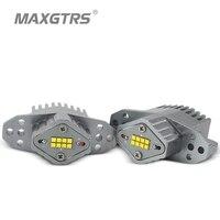 MAXGTRS 1Set (2*80W) LED Halo Ring Marker Angel Eyes Light Bulb Canbus Error Free For BMW E90 E91 LCI 2008 2011 Sedan Wagon