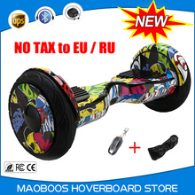 no tax 10 inch Led gyro scooter giroskuter self Balancing  HoverBoard unicycle Skateboard Skateboard Overboard  Hover board
