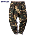 Port&Lotus Men Haren Jeans With Camouflage New Arrival Ankle-Length Pants Straight Pants Distressed Men Jeans 117 wholesale
