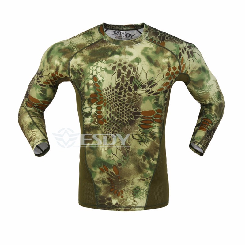 2016 NEW Tactical Camouflage T shirt Men Breathable Army Tactical Mesh T Shirt homme Military Quick